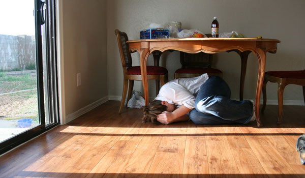 امنترین مکان هنگام زلزله در آپارتمان